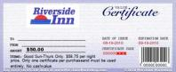 Riverside Inn - $20 Certificate for $4